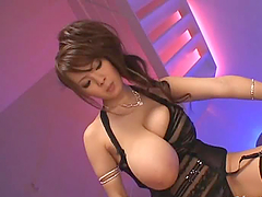 Hugely Breasted Asian Babe Gets Fucked..