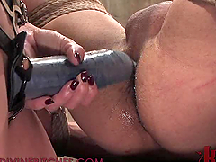 Blonde Dominatrix Fucking a Guy with..