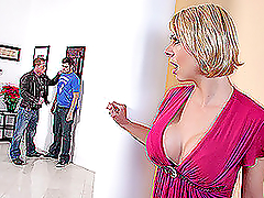 Sexy Blond MILF Deepthroats and Gets..