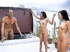Two Hotties Get a Big Dick Surprise!