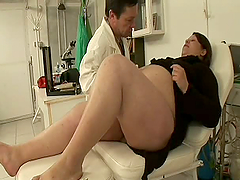 Horny Gynecologist Fucking One Of Her Wet Preggo Patients