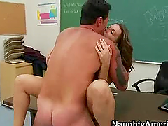 Hot and Busty College Girl Gets Fucked by a Horny Teacher