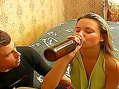 Brunette Biatch Drunk Of Cheap Beer..