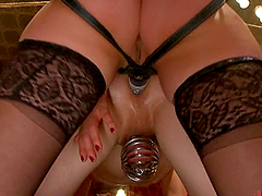 Busty Dominatrices Cock Torture and..