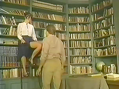 Horny Librarian Riding A Hard Dick In..