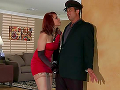 The Red Widow With Redhead Nicki Hunter Hard Anal Sex
