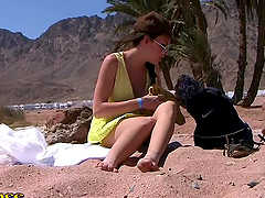 Hot Egyptian Babe Fucked in the Desert