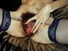 Hairy Pussy Masturbating With A Big..