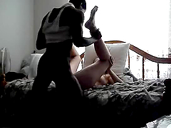 Interracial Teen Couple Gets a Good Time in a Hotel Room