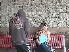 Hot Public Blowjob in POV Vid