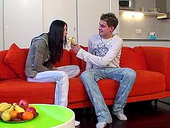 Karolina and Jaromir Blowjob With Nice..