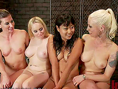 Asian Girl Gets Her First Lesbian Domination in BDSM Vid