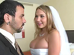 Very Busty Bride Alanah Rae Gets..
