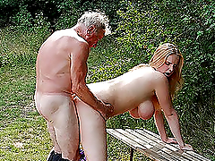 Super Busty Blonde Babe Gets Fucked By..