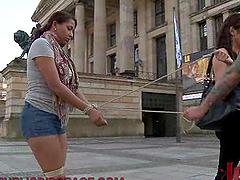 Ebony Slut Bondage Humiliation Public..