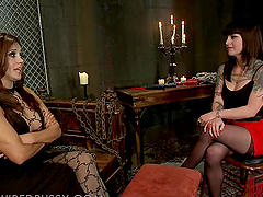 Kinky Brunette Gets in the Dungeon for..