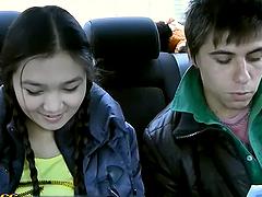 Crazy Car Ride With a Hot Blowjob