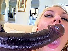 Huge Monster Cock Drilling a Blonde's..