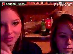 Two Hot Teens Teasing on Webcam