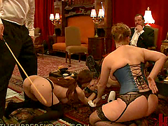 Bondage Scene With Hot Babes In Sexy..