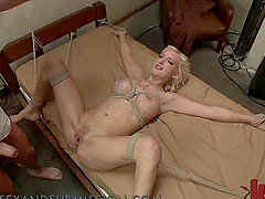 Hot Blonde Babe Sucks Cock and Gets..