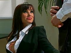 Lisa Ann Shares a Cock with Nikki Benz..