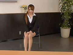 Riona Minami a hot japanese office..