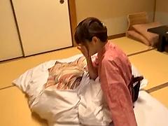 Beautiful Japanese Av model gets her..