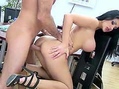 Busty Euro Slut Aletta Ocean Fucks Her Boss in the Office