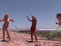 Lesbian Beach House Party