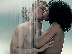 Hot Hard Interracial Sex in the Shower..