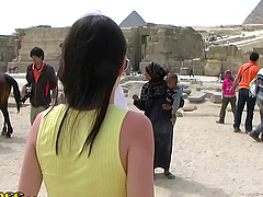Honeymoon Babe Bangs in Egypt