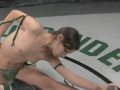 Tough Brunettes Fighting for Sex