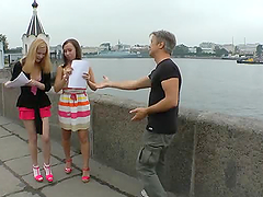 Rocco picks up two girls and makes..