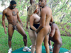 Wild naked black men run around..