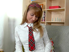 Tammi the shameless schoolgirl having..