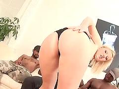 Nody Girl has sex with three black..