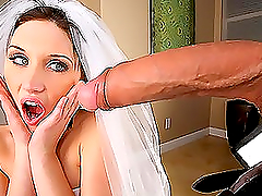A bride gets her pussy stunningly..