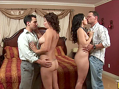 Hot FFMM Foursome with Babes Bailey..