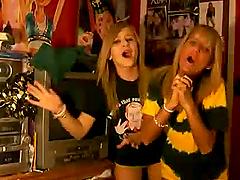 Two nasty blonde teens go crazy in..