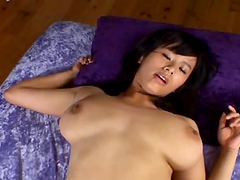 Busty Asian Chick Riding Hard