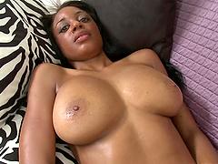 Sexy Big Tits Ebony Slut Interracial..
