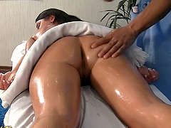 Spicy Massage Session With Hot Brunette