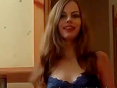 Homemade video of the long-haired babe..