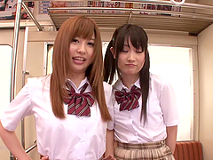 Innocent schoolgirls Cocomi Naruse and..
