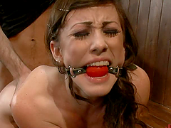 Rough Brunette Wants some Hardcore Bondage