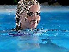 Blonde Celeb Elisha Cuthbert Strips..