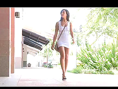 Sexy Babe Walking Naked in Public
