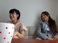 Two hot Japanese girls play with a..