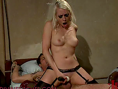 Hot Femdom Scene With A Very Wild Blonde